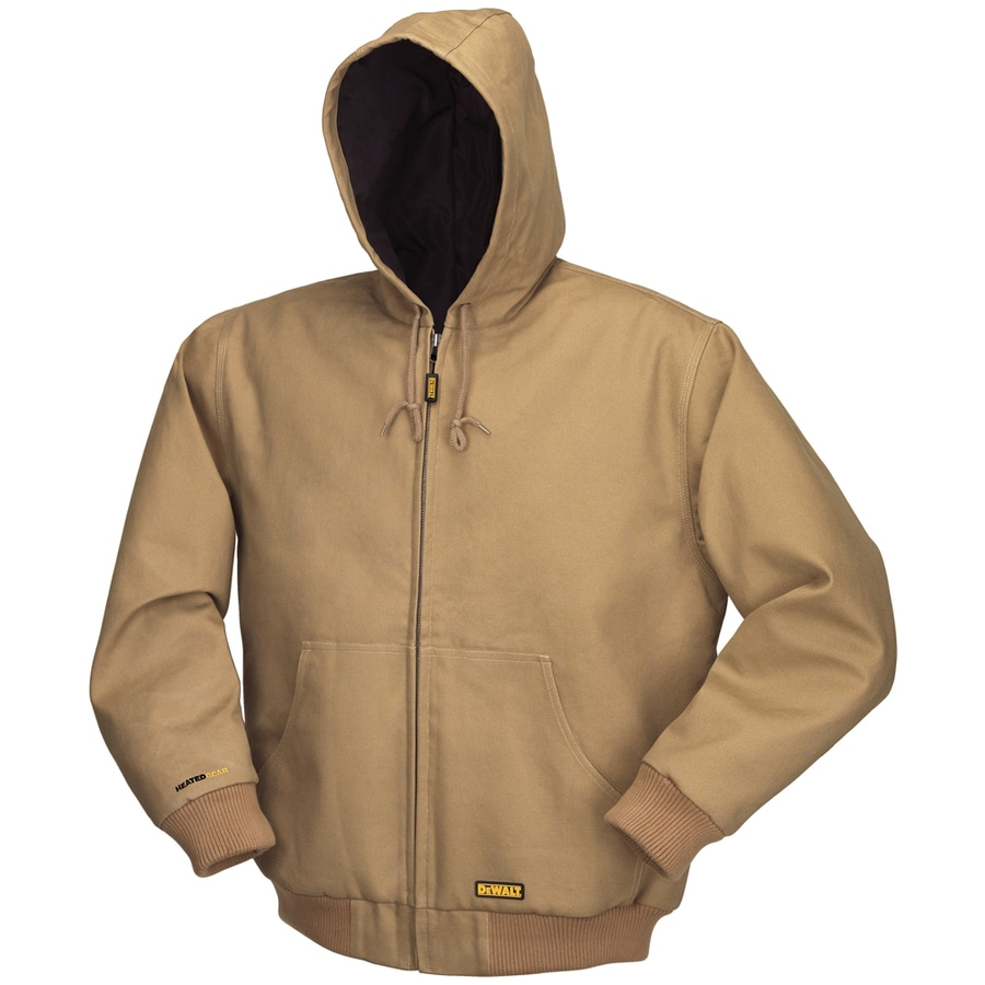 DEWALT Large Khaki Lithium Ion (Li-Ion) Heated Jacket