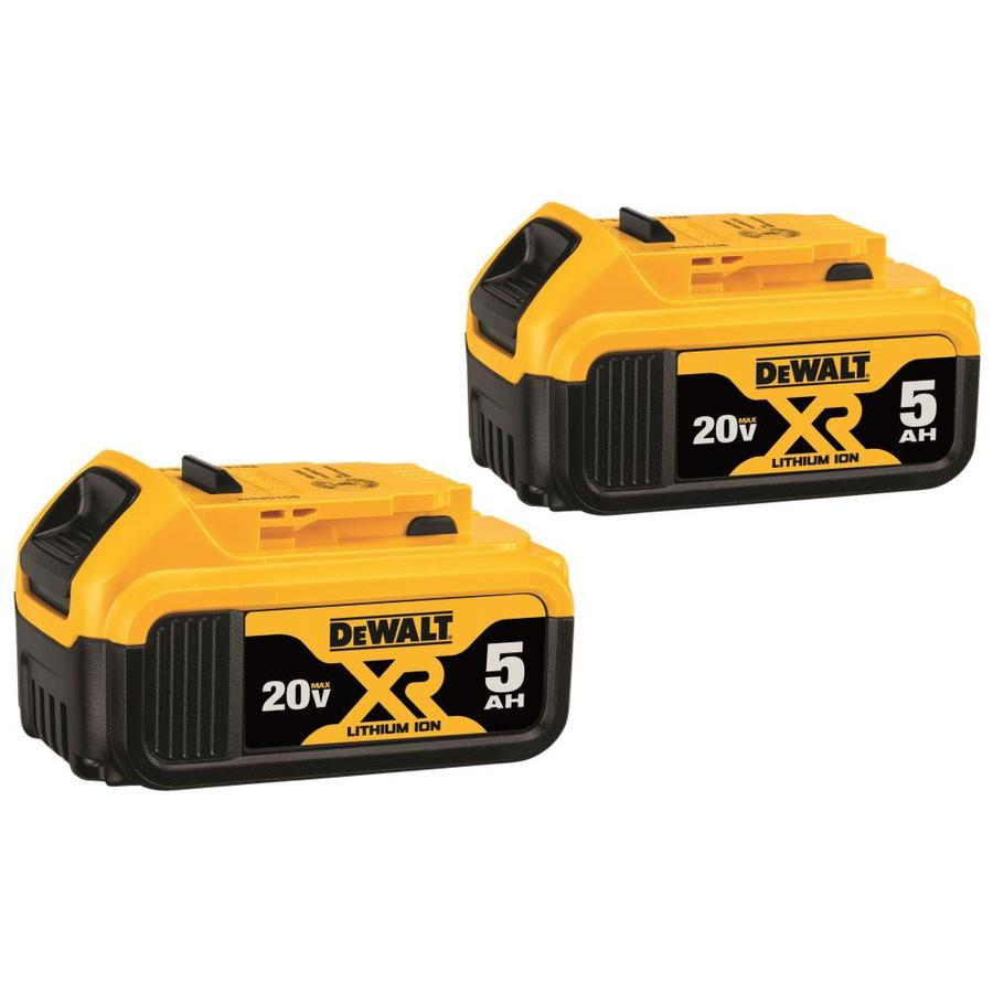 DEWALT 2-Pack 20-Volt 5-Amp Hours Lithium Power Tool Battery