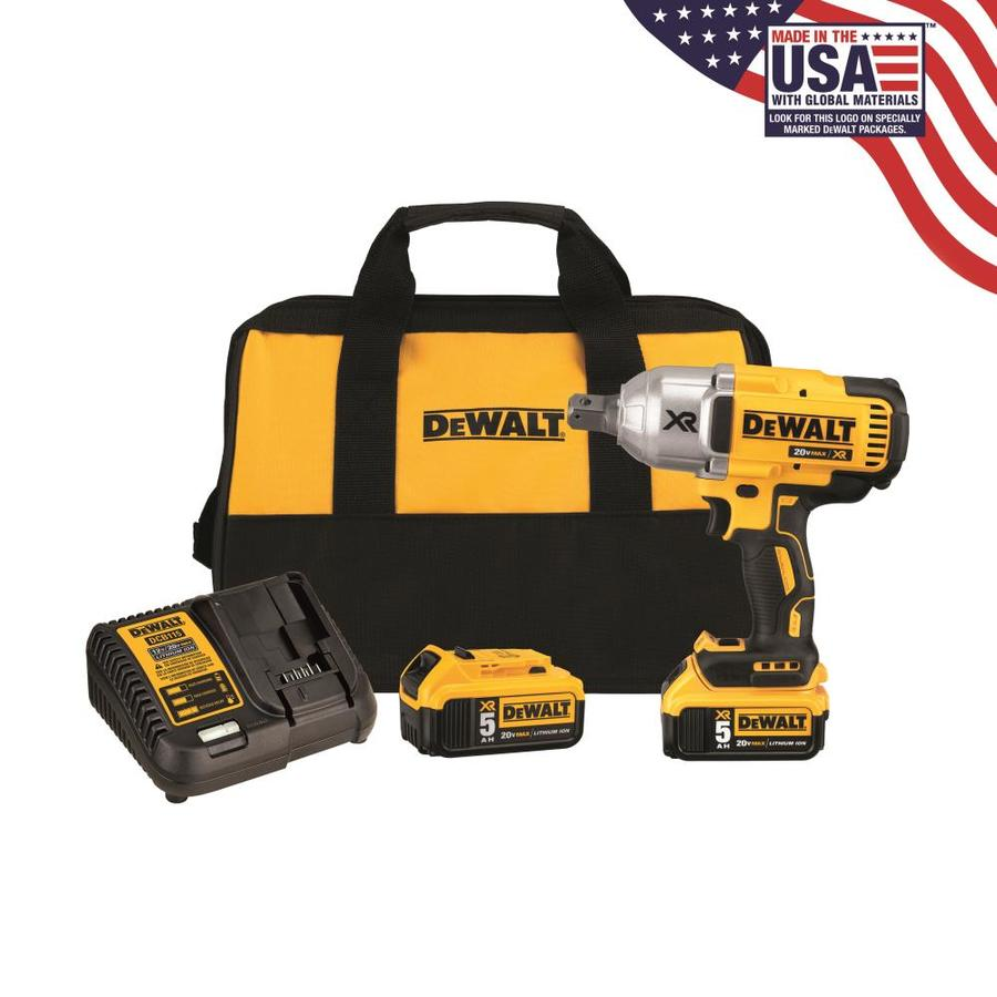 DEWALT XR 7/16-in Drive Brushless Cordless Impact Wrench (2 Batteries Included)
