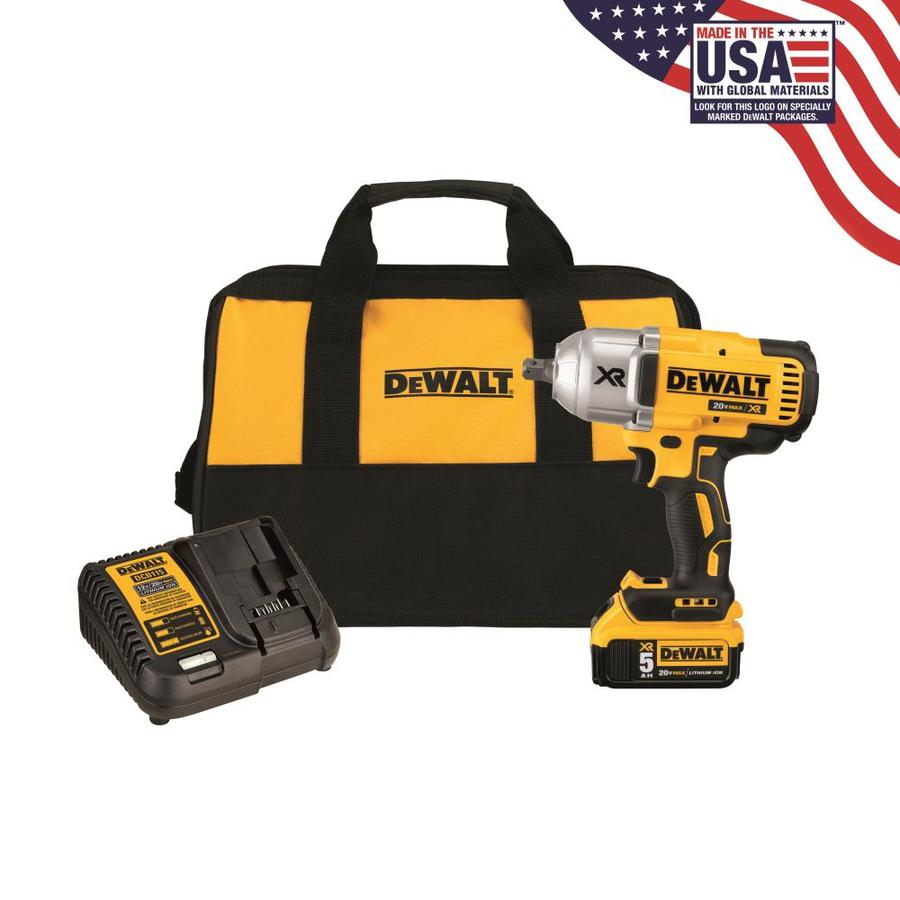 Dewalt 20 Volt Max 1 2 In Square Drive Cordless Impact Wrench Battery Included