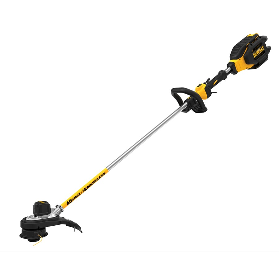 shop dewalt 40 volt max 15 in straight cordless string trimmer with battery at. Black Bedroom Furniture Sets. Home Design Ideas