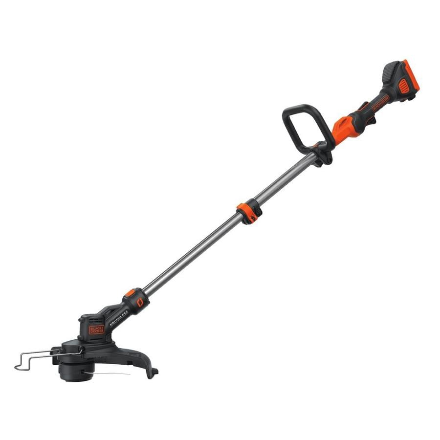 BLACK & DECKER 40-Volt Max 13-in Straight Cordless String Trimmer and Edger without Battery
