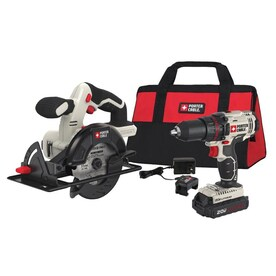 PORTER-CABLE 20-Volt Max 2-Tool Power Tool Combo Kit with Soft Case (1-Battery Included and Charger Included)