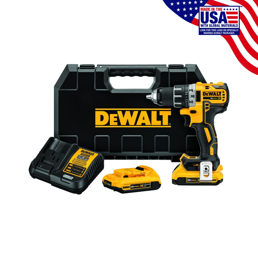 DEWALT 20-Volt Max Lithium Ion (Li-ion) 1/2-in Cordless Brushless Drill with Battery and Hard Case