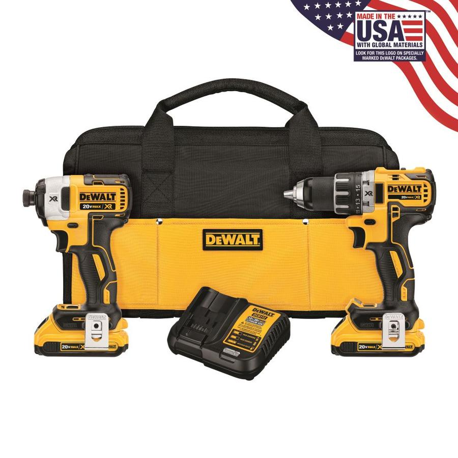 DEWALT 2-Tool 20-Volt Max Lithium Ion (Li-ion) Brushless Motor Cordless Combo Kit with Soft Case