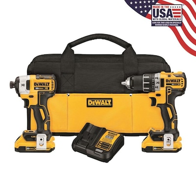 DEWALT 20-Volt Max 2-Tool Brushless Power Tool Combo Kit with Soft Case and Free Cordless Circular Saw (Bare Tool Only) (2-Batteries Included and Charger Included)