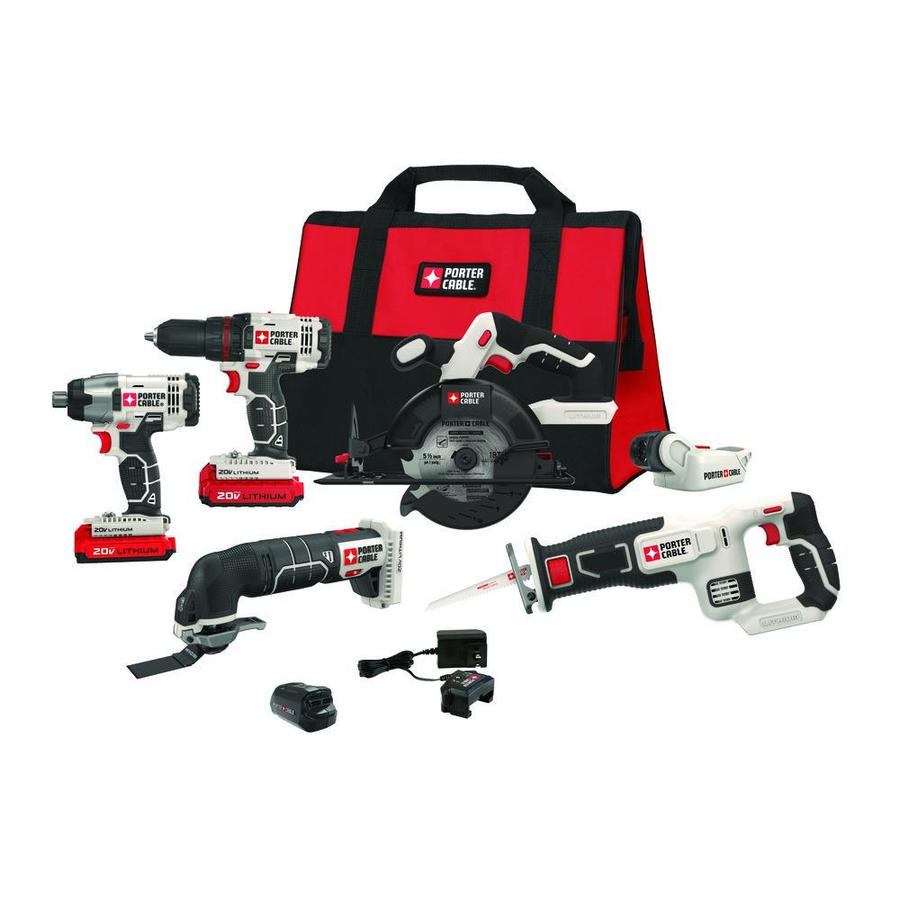 PORTER-CABLE 6-Tool 20-volt Max Lithium Ion Cordless Combo Kit