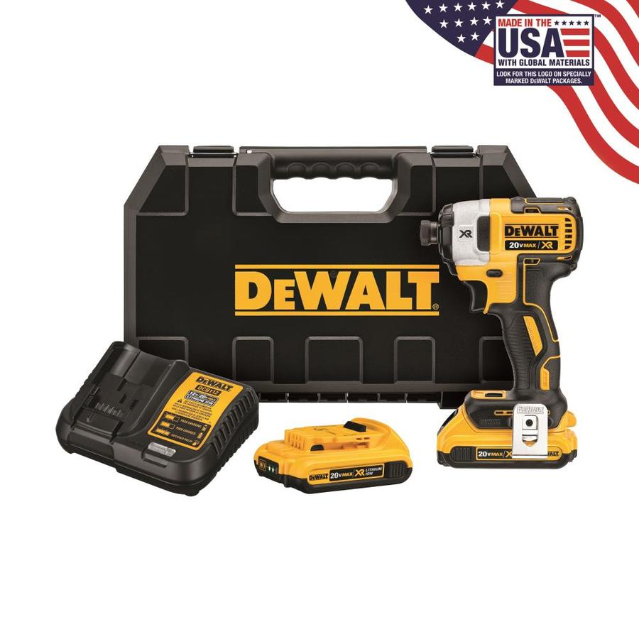 DEWALT 20-Volt Lithium Ion (Li-ion) 1/4-in Cordless Variable Speed Brushless Impact Driver with Hard Case