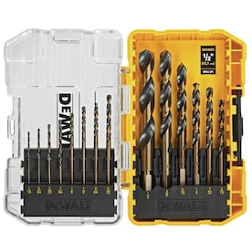 DEWALT 14-Piece Set x Set Black Oxide Coated HSS Twist Drill Bit Set