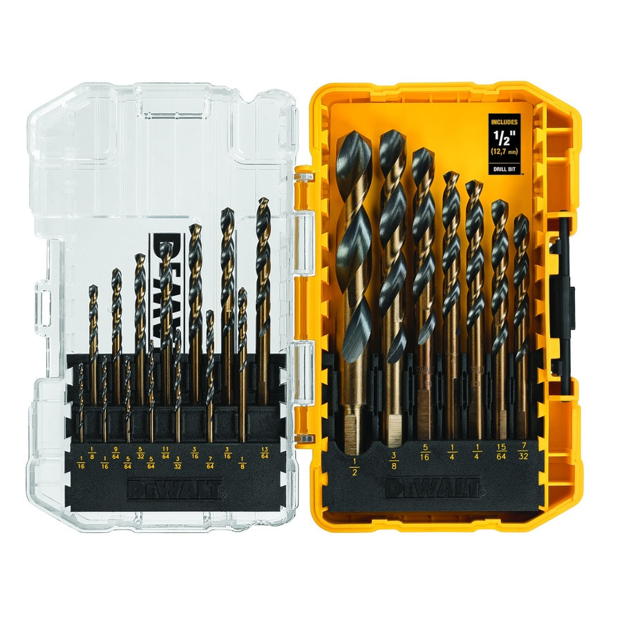 Shop Dewalt 21 Pack Black Oxide Twist Drill Bit Set At