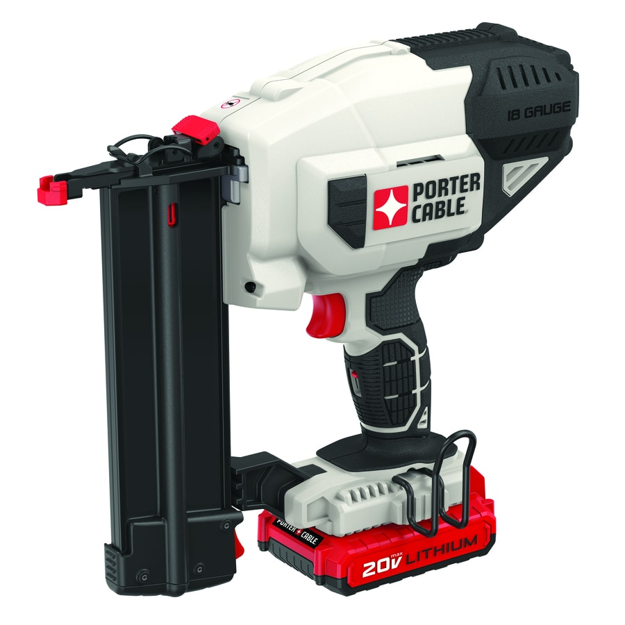 porter cable 18 gauge 20 volt brad cordless nailer with battery