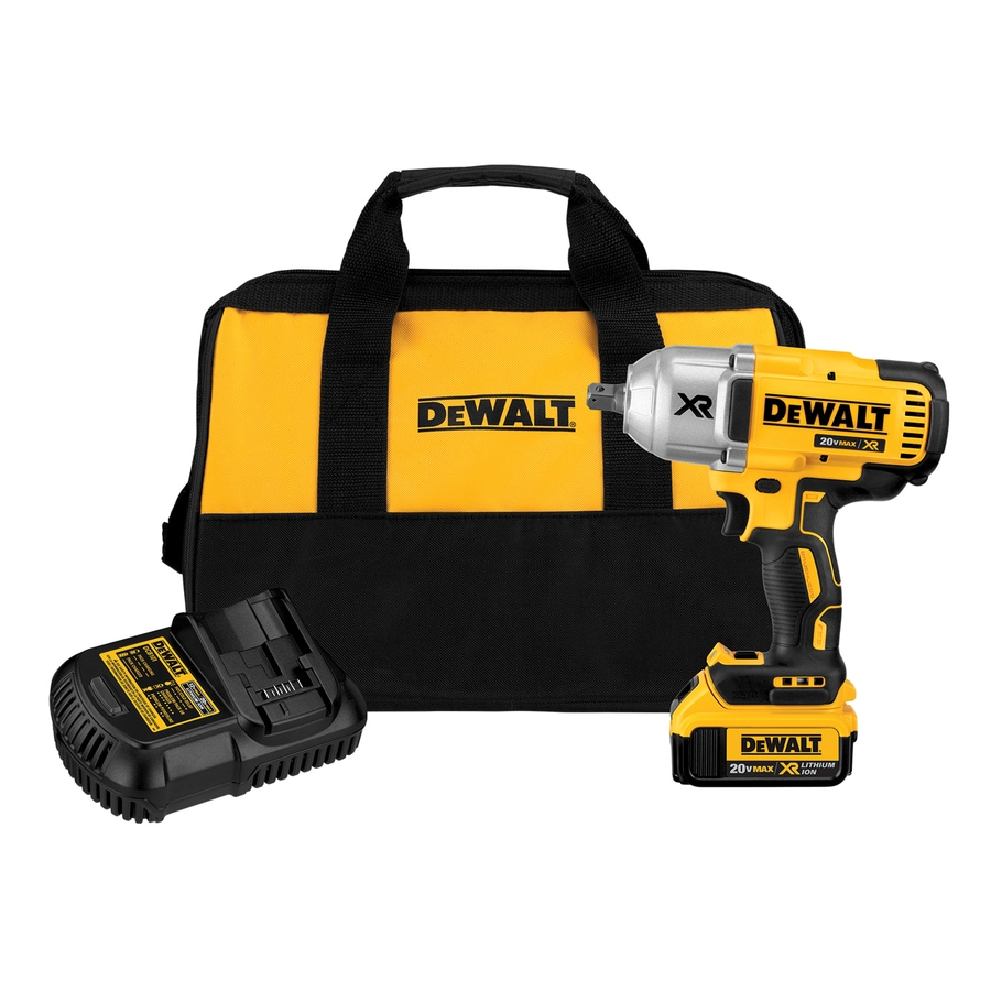 Dewalt Xr 20 Volt Max 1 2 In Drive Cordless Impact Wrench Battery Included