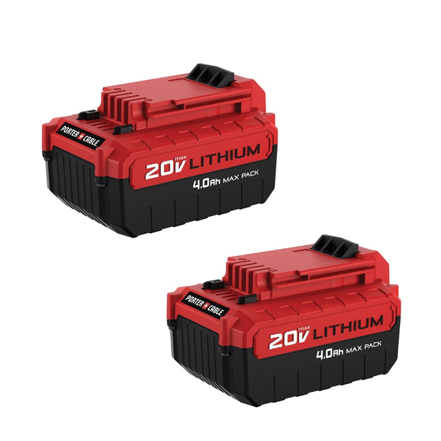 PORTER-CABLE 2-Pack 20-Volt Max 4-Amp Hours Lithium Power Tool Batteries