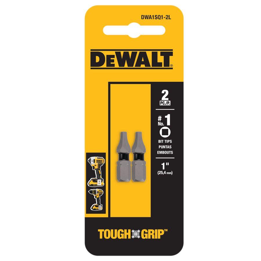 DEWALT 2-Pack 1-in Square/Robertson Screwdriver Bit