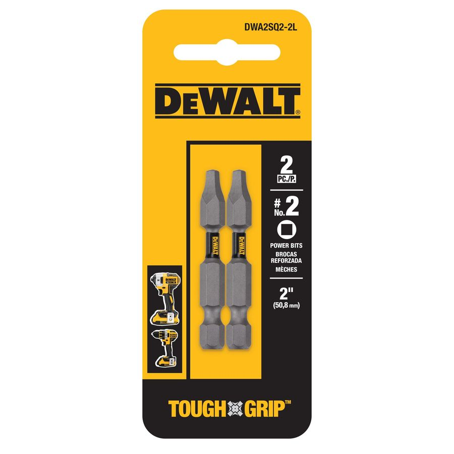 DEWALT 2-Pack 2-in Square/Robertson Screwdriver Bit