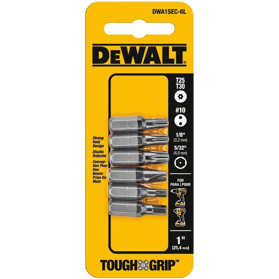 DEWALT 6-Piece Screwdriver Bit Set