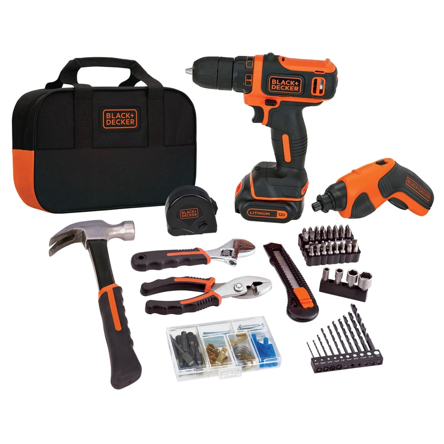 BLACK & DECKER 2-Tool 12-Volt Max Lithium Ion (Li-ion) Cordless Combo Kit with Soft Case
