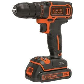 BLACK & DECKER 20-Volt Max 3/8-in Cordless Drill (Charger Included and 1-Battery Included)