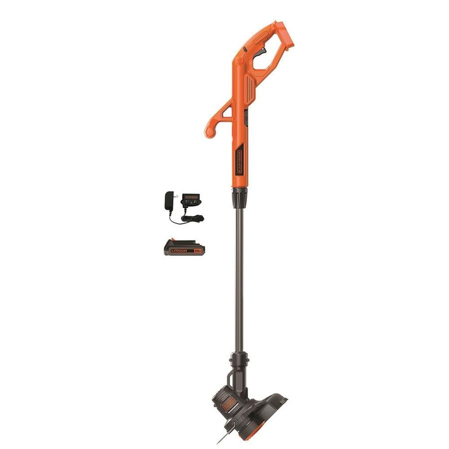 BLACK & DECKER 20-Volt Max 10-in Straight Cordless String Trimmer and Edger (Battery Included)