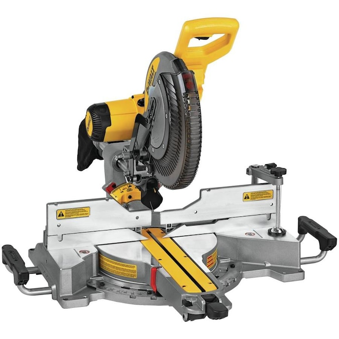 DEWALT 12-in 15-Amp Dual Bevel Sliding Compound Corded Miter Saw in the  Miter Saws department at Lowes.com