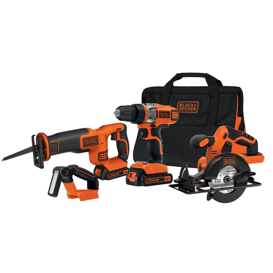 shop black decker 4 tool 20 volt max lithium ion li ion ForOutils Black Et Decker