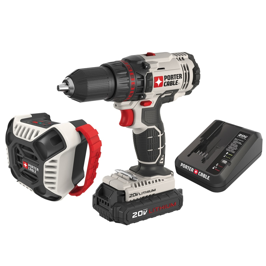 PORTER-CABLE 2-Tool 20-Volt Max Lithium Ion (Li-ion) Brushed Motor Cordless Combo Kit with (No Case) Case
