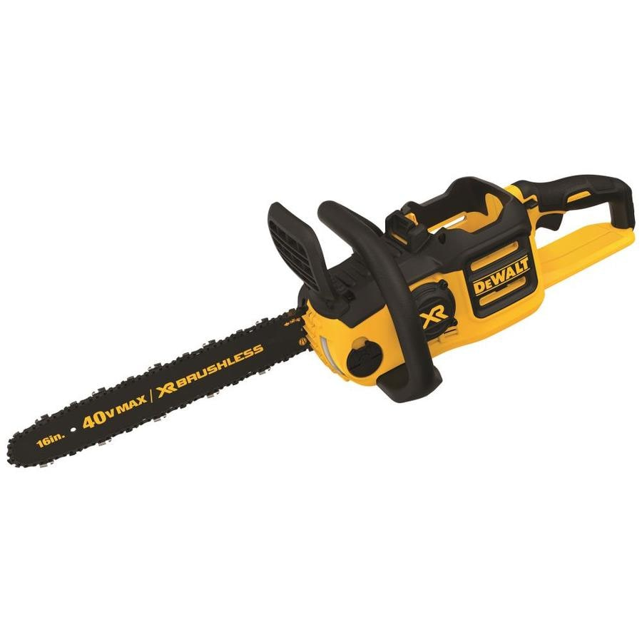 DEWALT 40-Volt Max Lithium Ion (Li-ion) 16-in Brushless Cordless Electric Chainsaw (Battery Not Included)