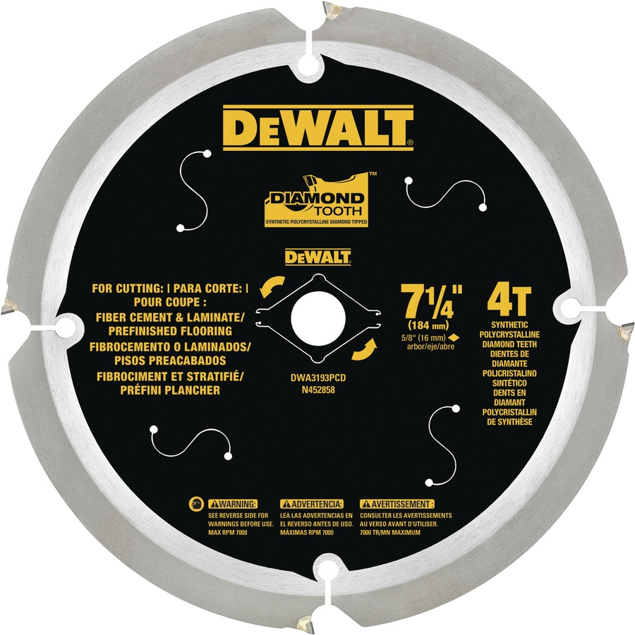 DEWALT 7-1/4-in 4-Tooth Dry Standard Diamond Circular Saw Blade