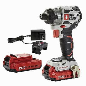 PORTER CABLE 20-Volt Max Lithium-Ion 1/4-Inch Brushless Impact Driver, PCCK647LB