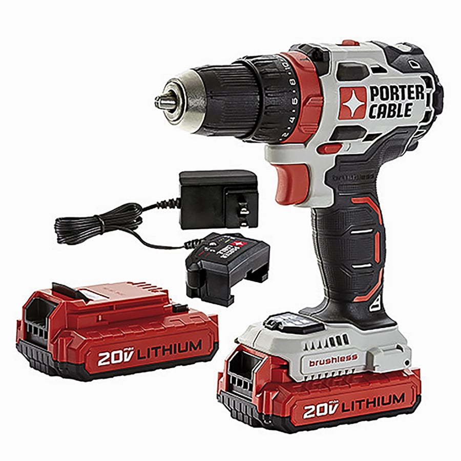 PORTER-CABLE 20-Volt Max Lithium Ion (Li-ion) 1/2-in Cordless Brushless Drill Battery Included (No Case)