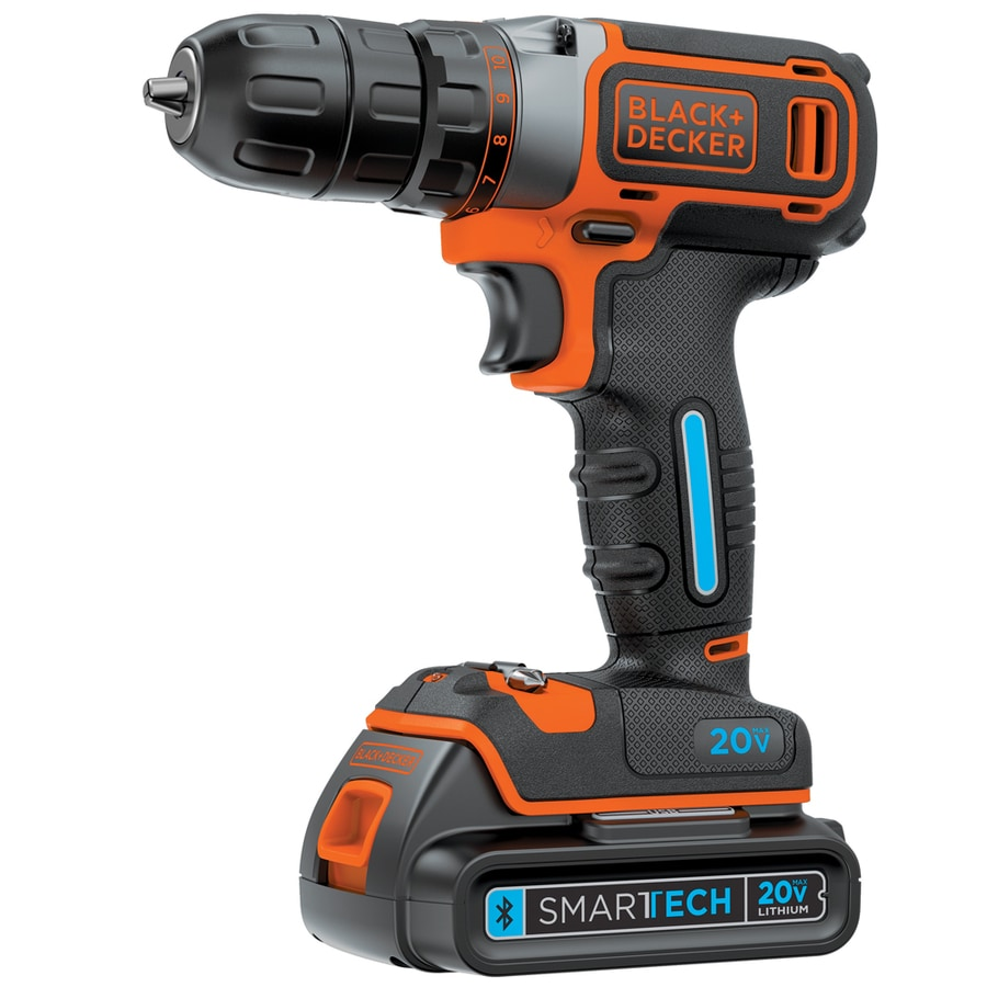 BLACK & DECKER SMARTECH 20-Volt Max Lithium Ion (Li-ion) 3/8-in Cordless Drill with Battery
