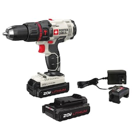 PORTER-CABLE 20-Volt Max 1/2-in Variable Speed Cordless Hammer Drill (2 Batteries Included and Charger Included)