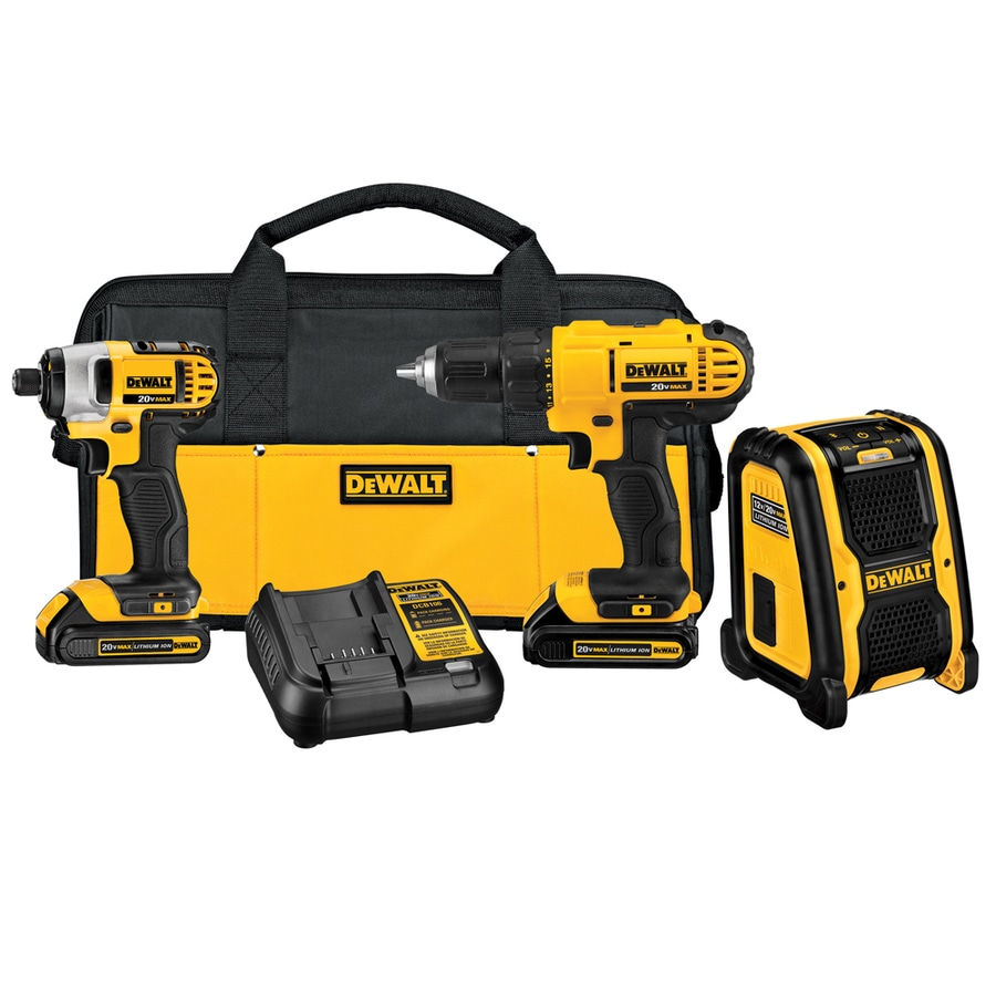 DEWALT 3-Tool 20-Volt Max Lithium Ion (Li-ion) Brushed Motor Cordless Combo Kit with Soft Case