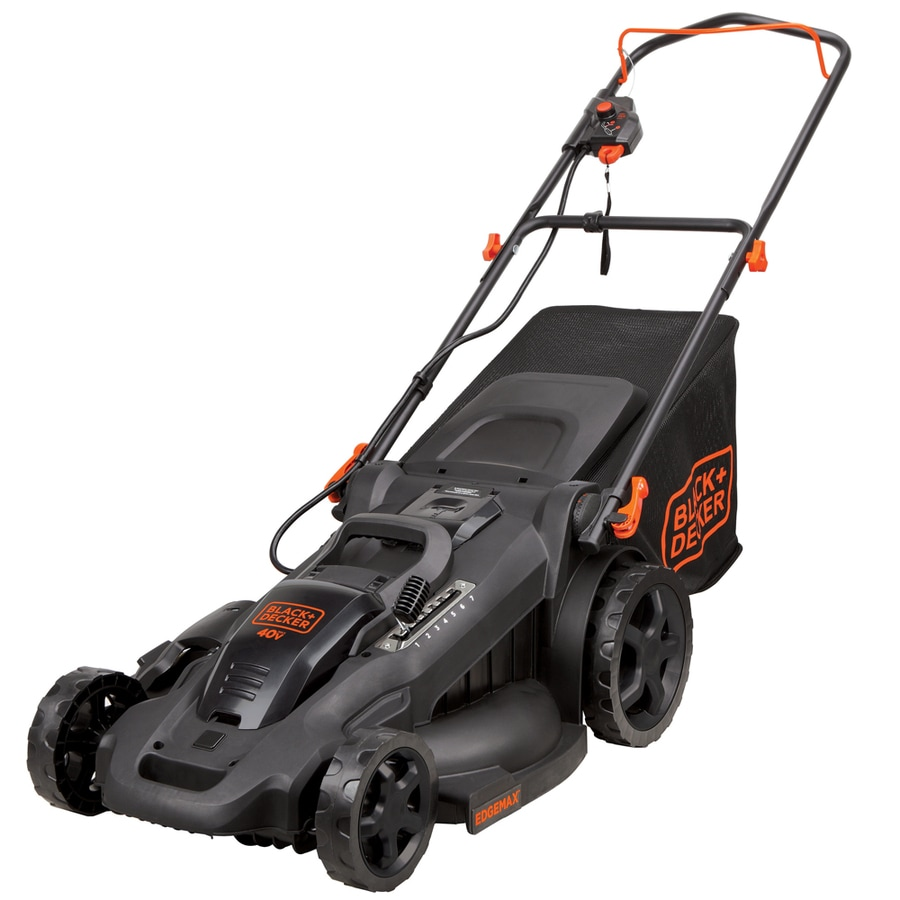 BLACK & DECKER 40-Volt Max Lithium Ion (Li-ion) 20-in Deck Width Cordless Electric Push Lawn Mower with 2 Batteries