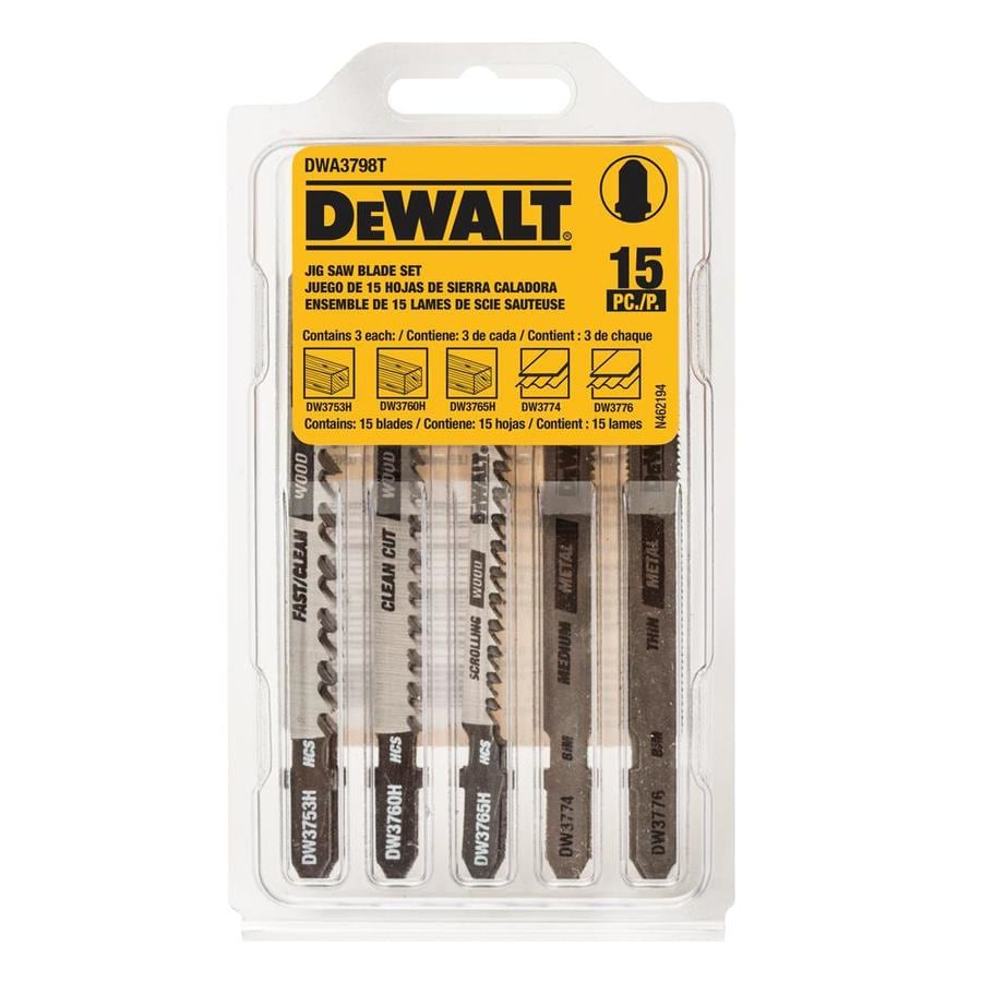 Shop jigsaw blades at lowes dewalt 15 pack t shank jigsaw blade set greentooth Choice Image