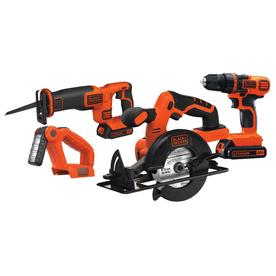 BLACK+DECKER 4-Tool 20-Volt Power Tool Combo Kit (Charger Included and 2-Batteries Included)