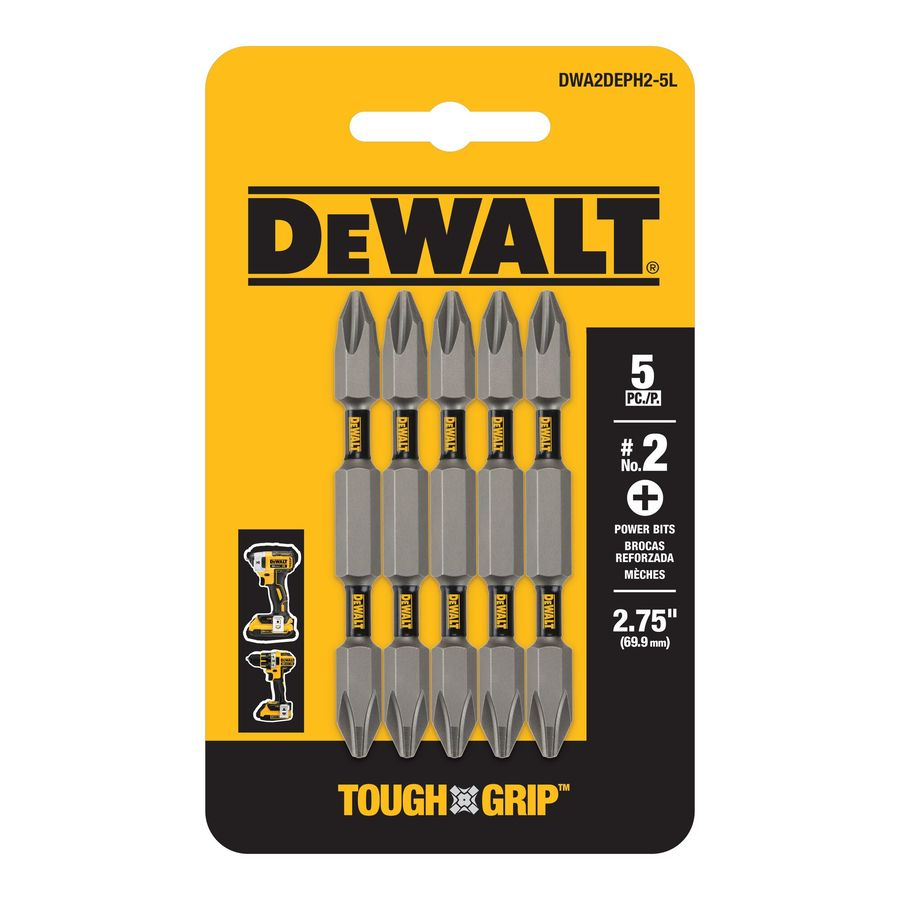 DEWALT 5-Pack 2-in Phillips Screwdriver Bits