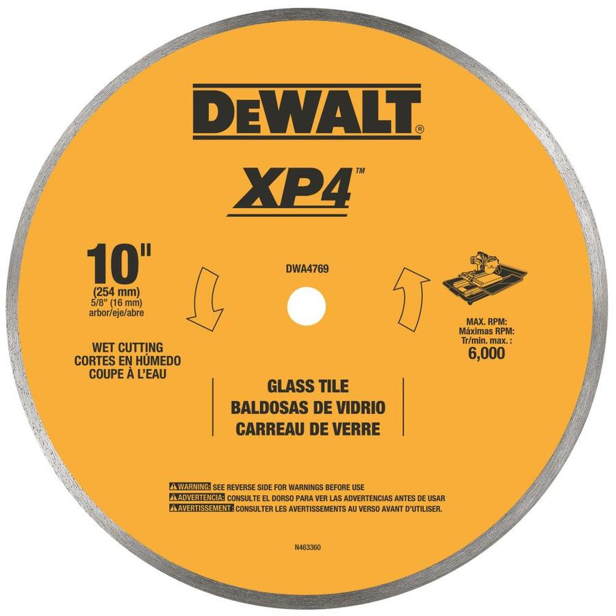 DEWALT 10-in Wet Continuous Diamond Circular Saw Blade
