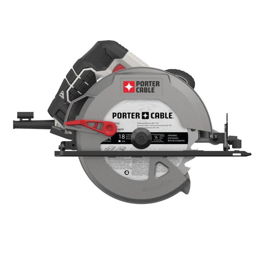 Shop porter cable 15 amp 7 14 in corded circular saw at lowes porter cable 15 amp 7 14 in corded circular saw greentooth Gallery