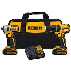 DEWALT 2-Tool 20-Volt Max Brushless Power Tool Combo Kit with Soft Case (Charger Included and 2-Batteries Included)