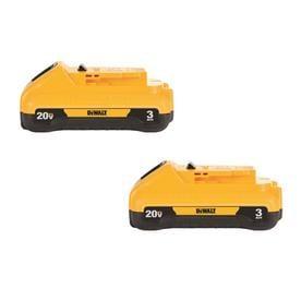 DEWALT 2-Pack 20-volt 3-Amp-Hours Lithium Power Tool Battery