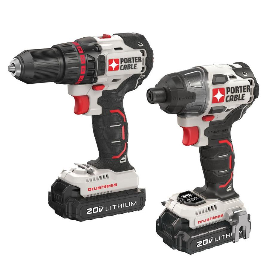 PORTER-CABLE 2-Tool 20-Volt Max Lithium Ion (Li-ion) Brushless Motor Cordless Combo Kit