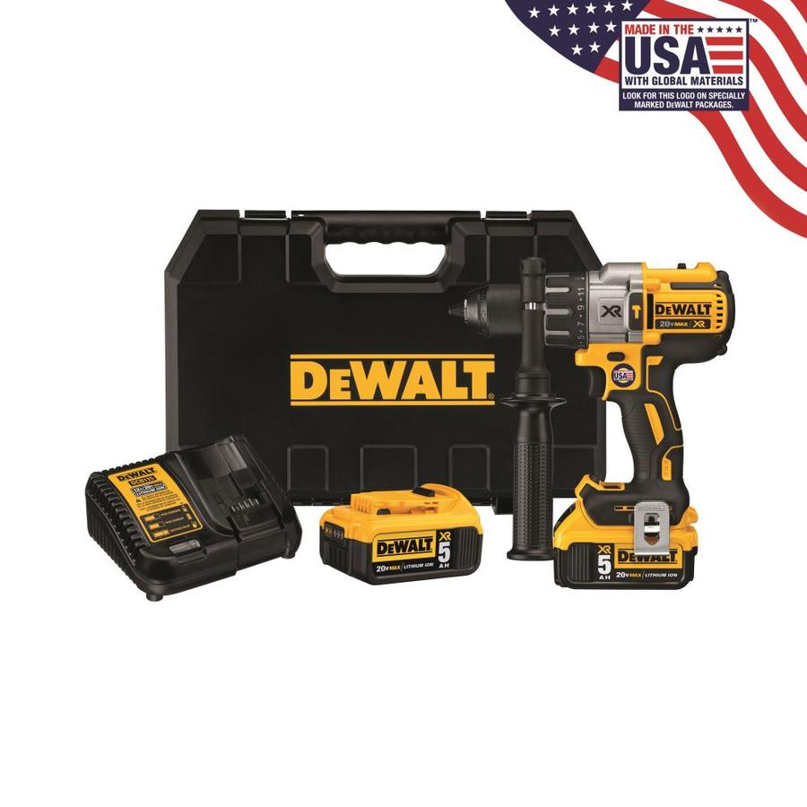 Dewalt Xr 1 2 In 20 Volt Max Variable Speed Brushless Cordless Hammer Drill 2 Batteries Included In The Hammer Drills Department At Lowes Com