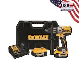 DEWALT 1/2-in 20-Volt Max Variable Speed Brushless Cordless Hammer Drill (2-Batteries Included)
