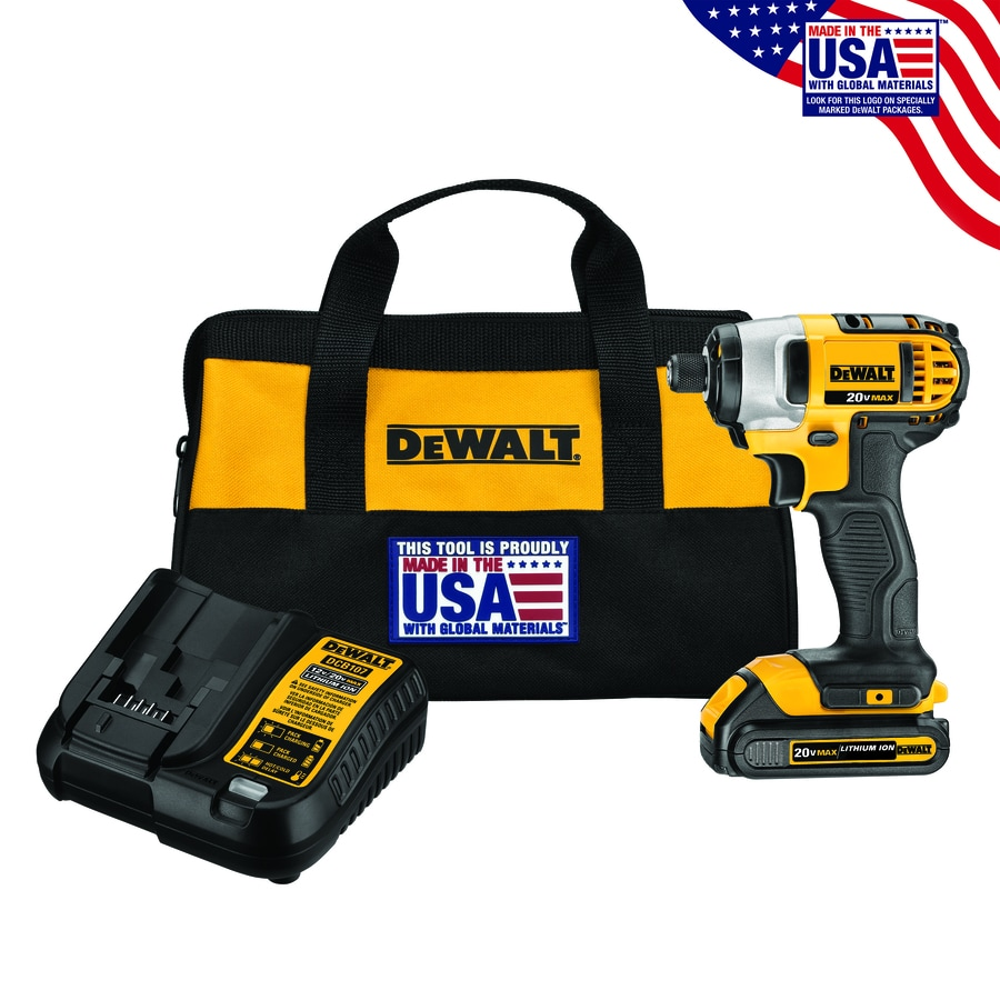 DEWALT 20-Volt Max Lithium Ion 1/4-in Cordless Variable Speed Impact Driver