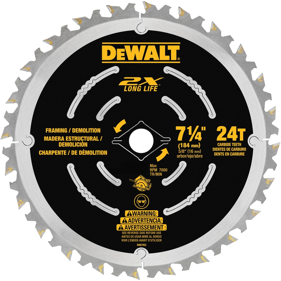 DEWALT 7-1/4-in 24-Tooth Carbide Circular Saw Blade