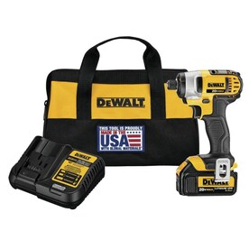 DEWALT 20-Volt Max 1/4-in Variable Speed Cordless Impact Driver (1 Battery Included and Charger Included)
