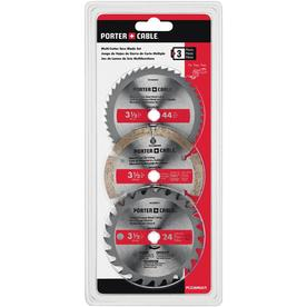 PORTER-CABLE 3 Pk Circular Saw Blades 3-1/2-in Circular Saw Blade Set