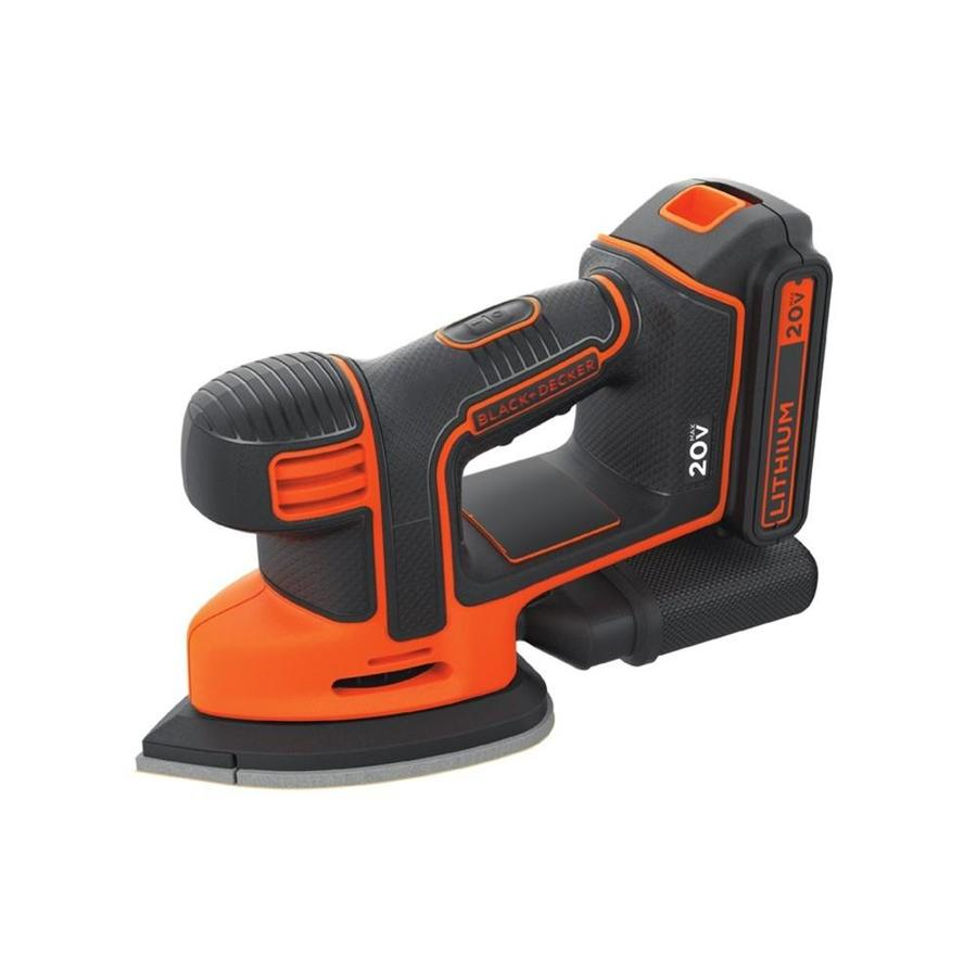 BLACK & DECKER 0 Amp Detail Sander Battery Included