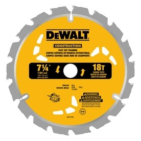 DEWALT Construction 3-Pack 7-1/4-in 18-Tooth Continuous Carbide Circular Saw Blade